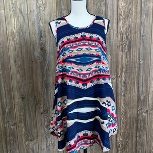 42 Pops print dress with pockets